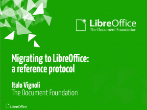Migrating to LibreOffce